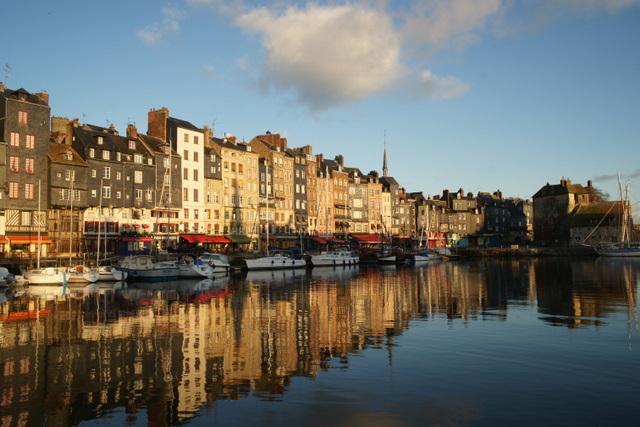 vue impressionniste du port de Honfleur - TML Voile
