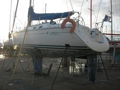 Le voilier Nomade de TML Voile à sec