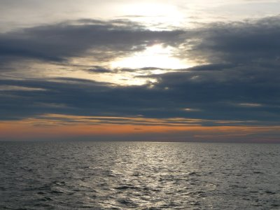 Ciel d'hiver depuis le bateau