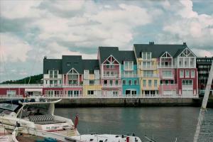 Maisons colorées à Deauville