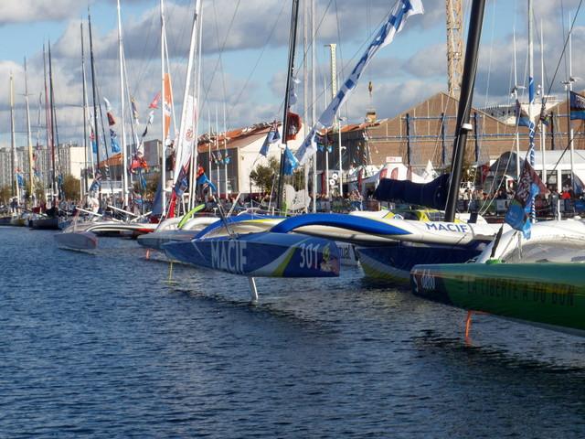 Les Ultime MACIF et Sodebo au départ de la transat Jacques Vabre 2015 - TML Voile